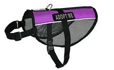 Dogline N0252-9-0231 MaxAire Mesh Vest for Dogs & 2 Removable Adopt Me Patches,