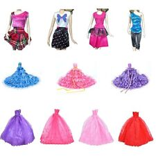 New Barbie Doll Fashion Handmade Clothes Dress Different Style For Kids Cute TSU