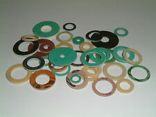 Fibre (C.N.A.F.) Washers- I.D's from 3mm up to 16.5mm, 10 per pack