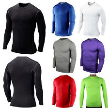 Men Boy Compression Base Layer Tight Top Under Skin Shirt Long Sleeve Sport Gear