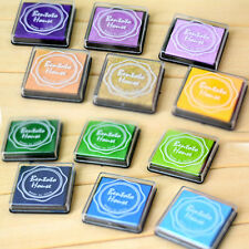 20x DIY Craft Finger Print Ink Pad Inkpad Rubber Stamps Inkpads Toys Kids GameJX