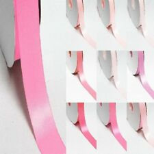"""5 Yards Double Sided 7/8"""" /22mm Discount Satin Ribbon. Pink s"""