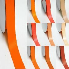 """100 Yards Double Sided Discount Satin Ribbon 3/4"""" / 19mm Yellow-Orange"""