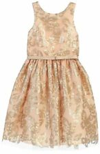 Flower Girl Sparkle Sequin Embellishment Allover with Thin Belt & Bow