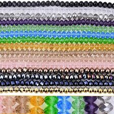 1 Strand Faceted Abacus Rondelle Crystal Glass Loose Beads Craft Findings 6x8mm