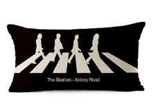 The Beatles ABBEY ROAD Retro Band Music Cover Cushion 45cm Stuffed Pillow Gift!