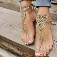 Bridal Wedding Crochet Barefoot Anklet Knit Anklet Sandals Foot Jewelry Beach
