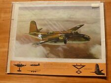 "WW2 Era Large Print USAAF DOUGLAS A-20 'HAVOC' (Boston UK) ATTACK BOMBER 19""x15"""