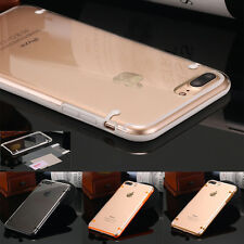 For iPhone 6S 7 Plus Ultra Thin Hybrid Shockproof TPU Bumper Clear PC Case Cover