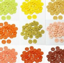 "19mm 3/4"" SZ 30 Small Plastic Coat Buttons YELLOW TO RUST 10-90 buttons Retail"