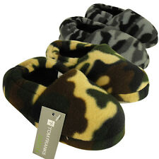New Boys Camouflage Childrens Slipper Kids Quality Camo Slippers Size UK 9-3