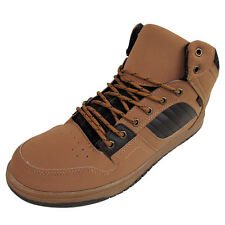 Mens Faux Leather Trail Hi Top Hiker Boots Trainers Skate Trainer Ankle Shoe New