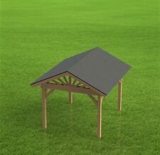 Gazebo Building Plans - Gable Roof - Perfect for Hot Tubs