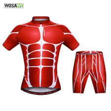 2017 Cycling Short Sleeve Sets Bike Bicycle Suits Jerseys & Padded Shorts Muscle