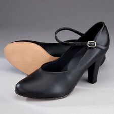 """So Danca CH53 Black Buckle Strap PU Character Dance Stage Shoes  (3"""" Heel)"""