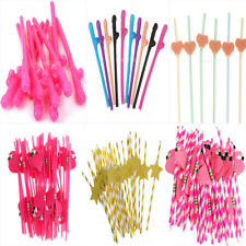 Novelty Funny Straws Fancy Hen Stag Party Wedding Birthday Favors Accessories