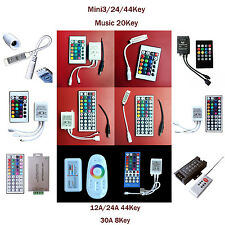 24/44 KEY Double Lines Music WIFI  IR Remote Controller For RGB LED Strip