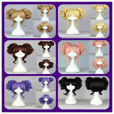 Lolita 6 Colors Cosplay Party Stylish Women Short Hair Wig + Two Curly Ponytails
