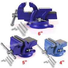 HEAVY DUTY WORK BENCH VICE VISE WORKSHOP CLAMP ENGINEER JAW SWIVEL BASE TABLE