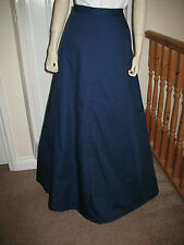 Victorian / Edwardian Style Ladies Bustle Skirt Re-enacting / Fancy Dress (NAVY)