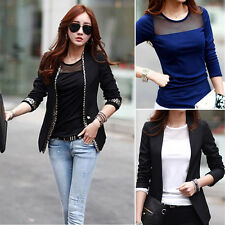 Korean Fashion Women Long Sleeve Shirt Casual Lace Patchwork Cotton Tops T Shirt