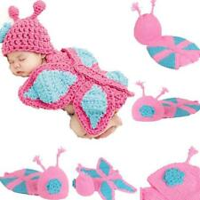 Newborn Infant Baby Boy Girl Photography Prop Costume Cute Butterfly Cap Set