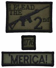 3 Piece Military/Morale Patch Set I Plead the 2nd Amendment 2x3 w/hook backing
