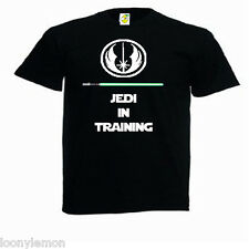 KIDS STAR WARS T SHIRT - JEDI IN TRAINING T SHIRT ,GLOW IN THE DARK