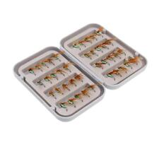 40Pcs Lures In Waterproof Fly Box - Trout Fly Fishing Flies - Fly Fishing