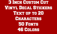 "3"" CUSTOM TEXT Vinyl Decal Sticker Car Truck Laptop Window Wall Boat Window"