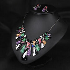 Chunky Statement Women Necklace Crystal Choker Bib Pendant Chain Jewelry 2016