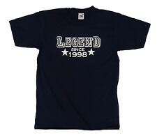 Legend Since 1998 t shirt, 19th Birthday gift present idea