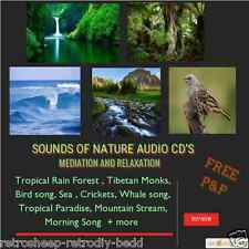 NATURE SOUNDS AUDIO CD OCEAN CRICKET TROPICAL WAVES BIRD Meditation Relaxation