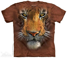The Mountain 153251 Tiger Face Child's Short Sleeve T-shirt Brown