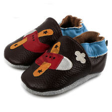 0-24M Baby Soft Sole Leather Slip-on Shoes Infant Boy Girl Toddler Moccasin 2017