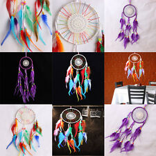 Dream Catcher Flowers Handmade Wall Hanging Decoration Bead Ornament Feathers