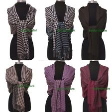 One or Lot of Six Square/strip pattern Long Pashmina Scarves Wrap Shawl Stoles#1