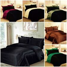 6PC Satin Bedding Sets Including Duvet Cover, Fitted Sheet & Pillowcase JobLot