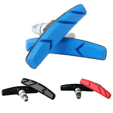 1 PAIR MOUNTAIN ROAD CYCLING BIKE V BRAKE HOLDER SHOES RUBBER PADS BLOCKS COMFY