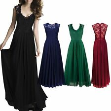 Sexy Lace Hollow Halter Women Sleeveless Slim Cocktail Party Swing Maxi Dress