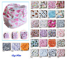 HOT Baby Infant Cloth Diaper Minky One Size Reusable Nappy Covers Liner Inserts