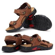 Men's Genuine Leather Sport Beach Sandals Fisherman Breathable Casual Shoes Hot