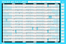 2017-2018 ACADEMIC YEAR WALL PLANNER LAMINATED UNMOUNTED LARGE A1 WALL CHART 923