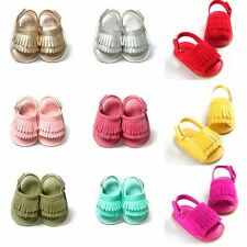 0-18M Infant Baby Girl Boy Tassel Sandals Soft Sole Shoes Anti-Slip Crib Shoes