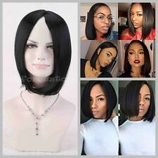 Hot Women's Black Wig Short Straight BOBO Anime Cosplay Party Full Wigs+Wig Cap