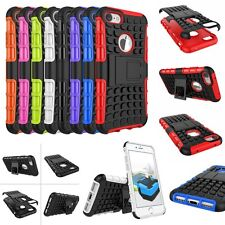 Hybrid ARMOR SHOCKPROOF STAND RUGGED RUBBER TPU Cover Case For iPhone iPod Touch