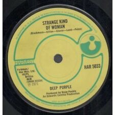"DEEP PURPLE Strange Kind Of Woman 7"" VINYL UK Harvest 1971 B/w I'm Alone"