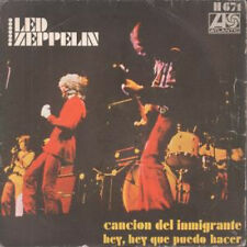 """LED ZEPPELIN Immigrant Song 7"""" VINYL Spanish Atlantic 1970 B/W Hey Hey What Can"""