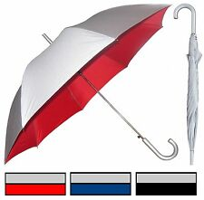 "Lot of 12 - 48"" Silver Auto Umbrella - RainStoppers Rain/Sun UV Fashion"
