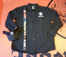 Jagermeister Men's Mechanic Dress Shirt, Visor, and Lanyard - Size Large